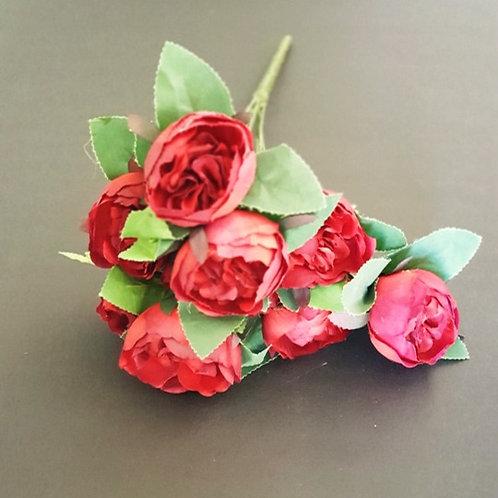 ענף בוקט נוריות עתיק אדום - פרחי משי לעיצוב הבית