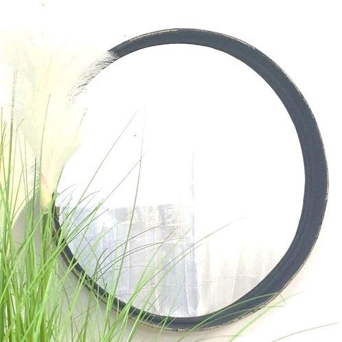 מראה מסגרת במבוק בצבע שחור קוטר 50