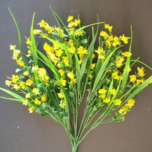 ענף ניצנית צהוב-פרחי משי לעיצוב הבית