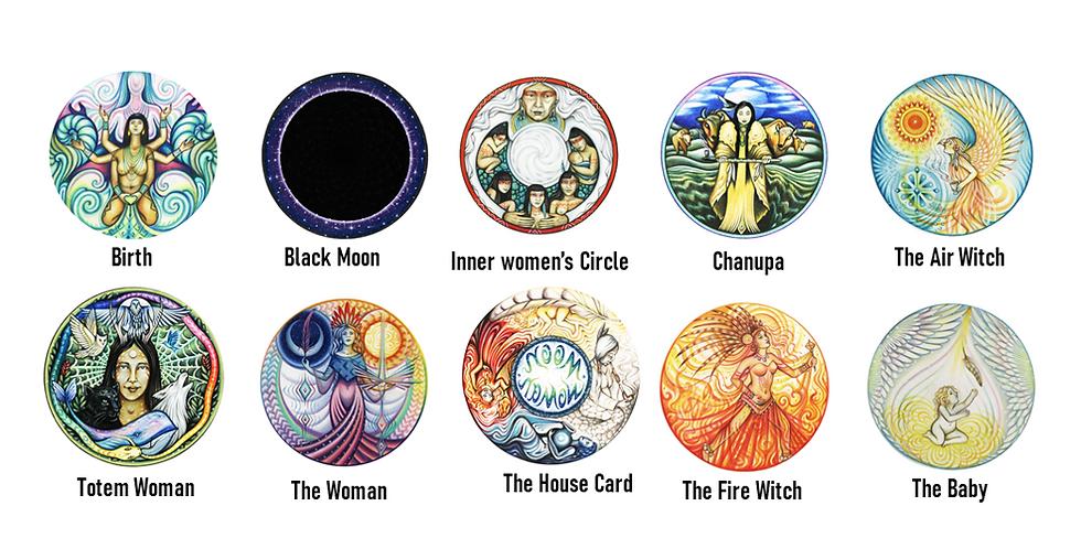 Moon Woman-Black Moon- Shamanic Healing Stickers