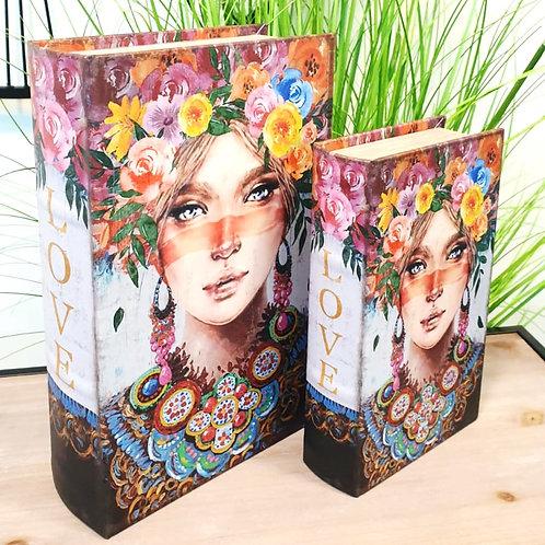 סט קופסאות במראה ספר מלכת הפרחים