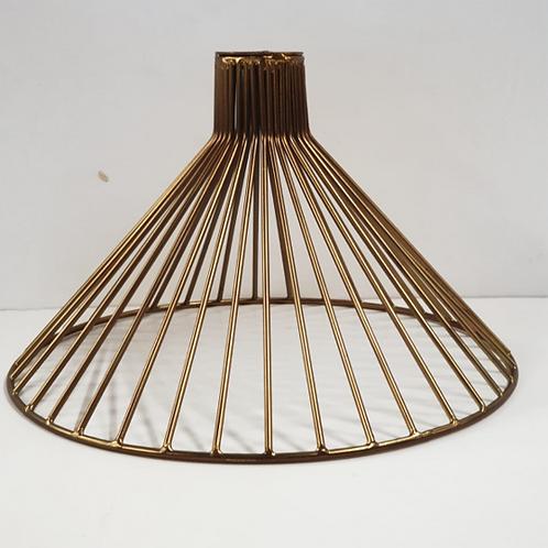 מנורת תליה חוטי רשת- קונוס זהב