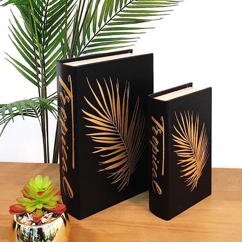 סט קופסאות במראה ספר עלי זהב