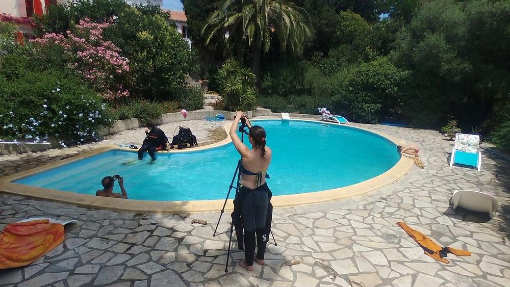 Premier jour de  tournage des vidéos de la méthode Top-Plongée!