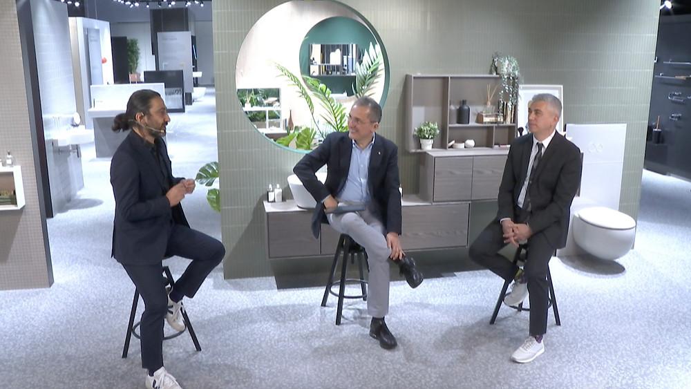 Soldan sağa; Erdem Akan (Eczacıbaşı Yapı Gereçleri Tasarım Direktörü), Özgen Özkan (Eczacıbaşı Yapı Gereçleri CEO'su), Boğaç Şimşir (Eczacıbaşı Yapı Gereçleri İnovasyon Direktörü).
