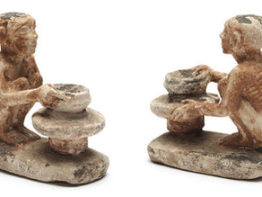 """""""POTTER"""" FIGURINES THE CERAMICIST DEPICTS HIS PROFESSION WITH HIS MATERIAL CLAY"""
