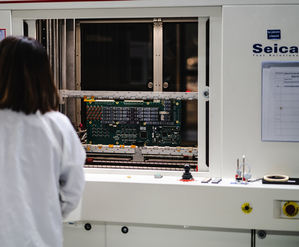 Seica Flying Probe tester for checking PCB components