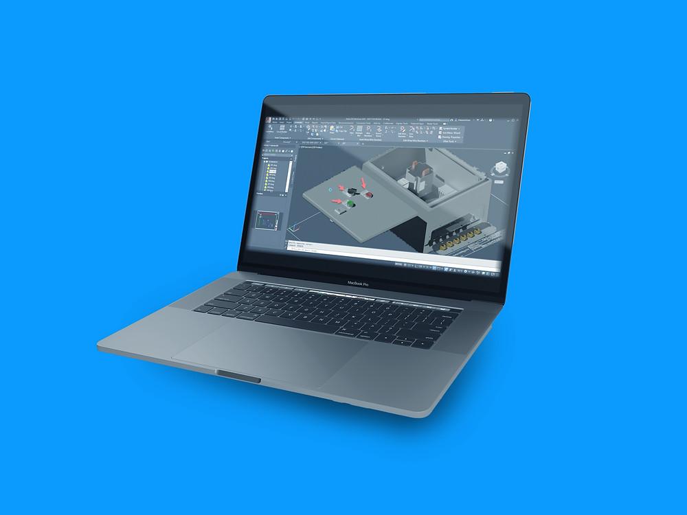 CAD program on a Macbook Pro