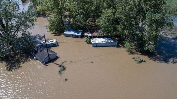 Hurricane Harvey Massive Flooding Columbus Texas