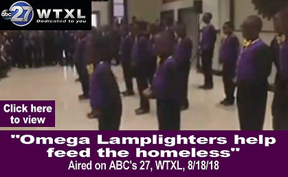 Omega Lamplighters help feed the homeles