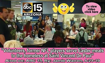 Former NFL players serve Easter meals Ad