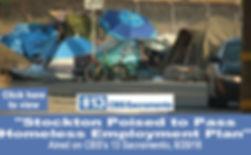 Stockton Poised to Pass Homeless Employm