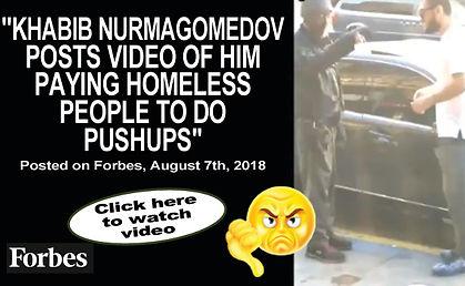 Khabib Nurmagomedov Posts Video-Pushups_