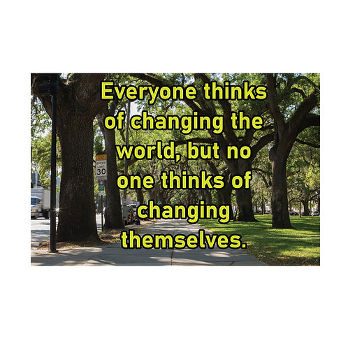 Changing Themselves