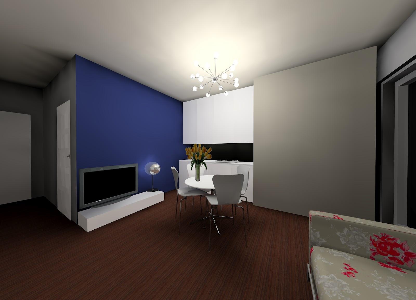 Progetto Soggiorno 20 Mq soggiorno, cucina, pranzo, per 4tutto in 19 mq