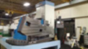Boring mill machining