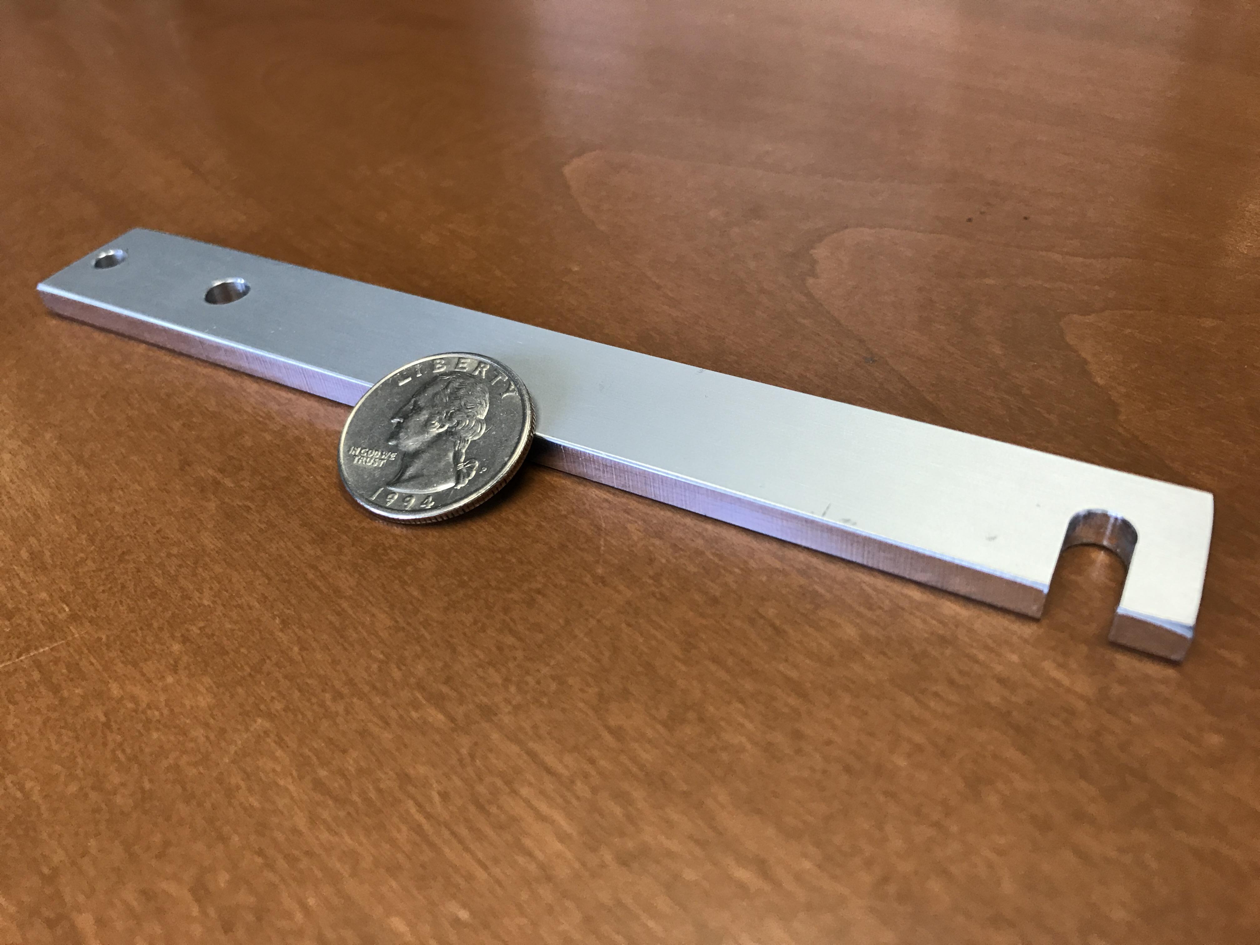 Aluminum part, small