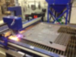 Steel plate cutting
