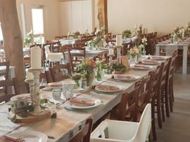 Tischdeko in der Mühlenscheune