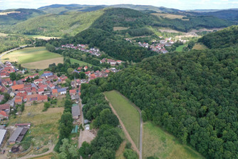 Nördlicher Teil von Imsweiler mit Blick auf den Mühlberg