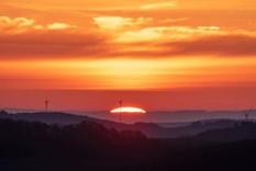 Sonnenuntergang in der Gemarkung Imsweiler