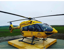 Der Hubschrauber der ADAC Luftrettung in Imsweiler