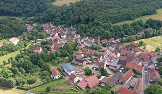 Nördlicher Teil von Imsweiler mit Blick auf den Dorfkern