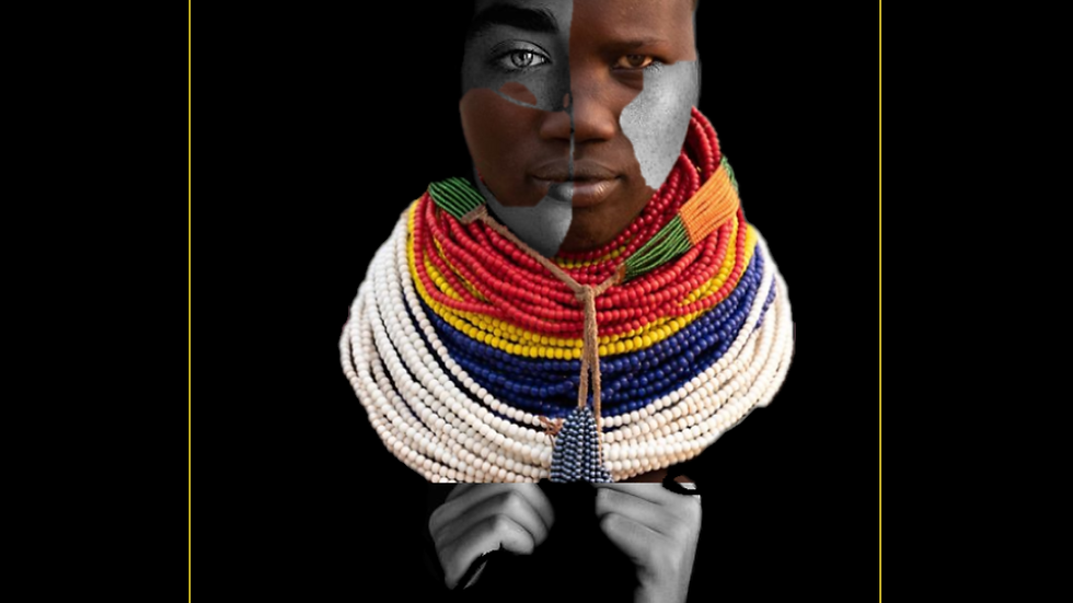 Karo-Lina | She puts up a fight | Omo Valley, Ethiopia Karo Girl Digital Collage