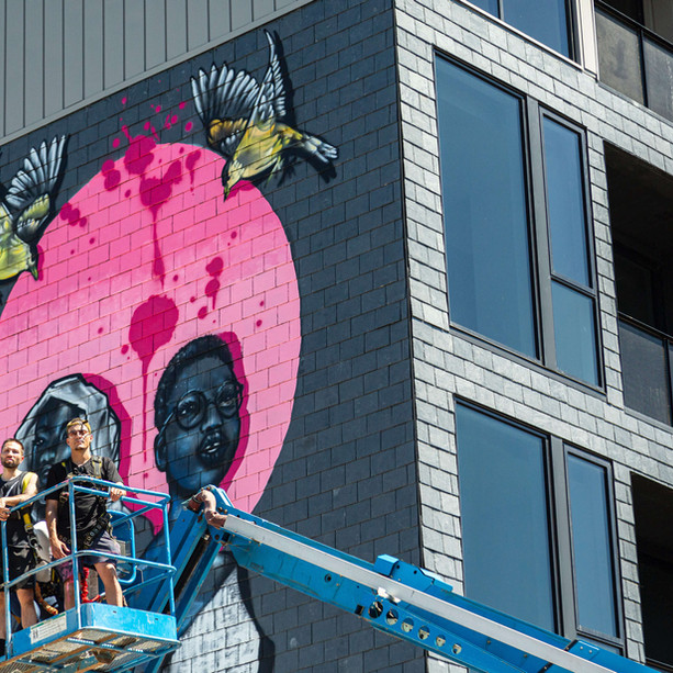 80ft+ Public Art Mural (June 2020)