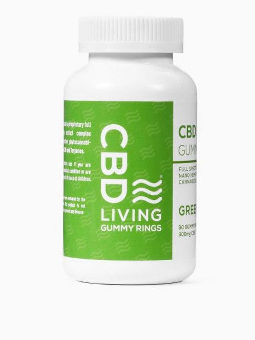 CBD Living Green Apple Gummy Rings