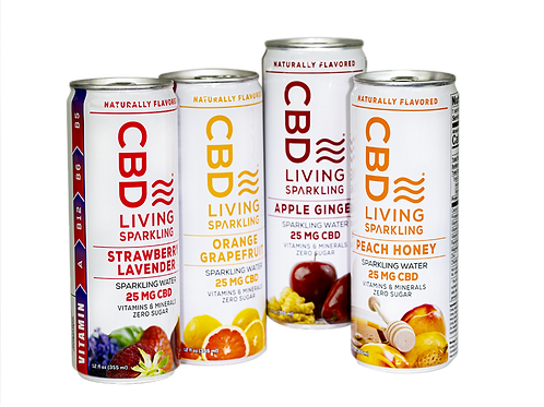 CBD Living Sparkling Water Sample Pack