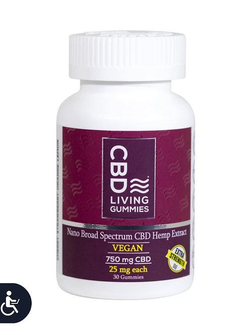 CBD Living Extra Strength Vegan Gummies