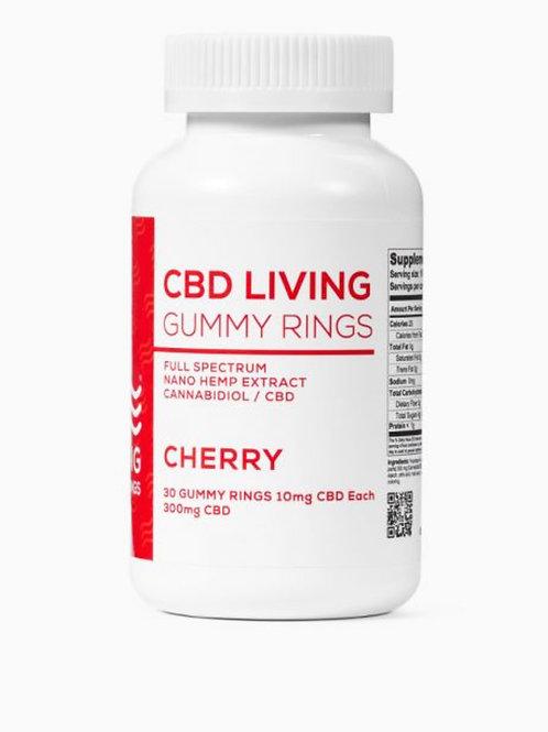 CBD Living Cherry Gummy Rings