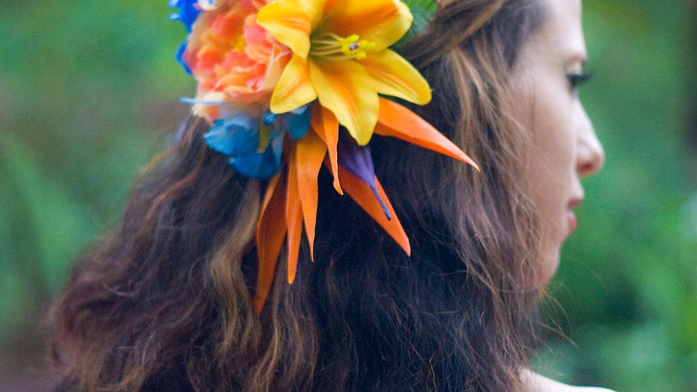 Beautiful Island Pardise flower Hair clip