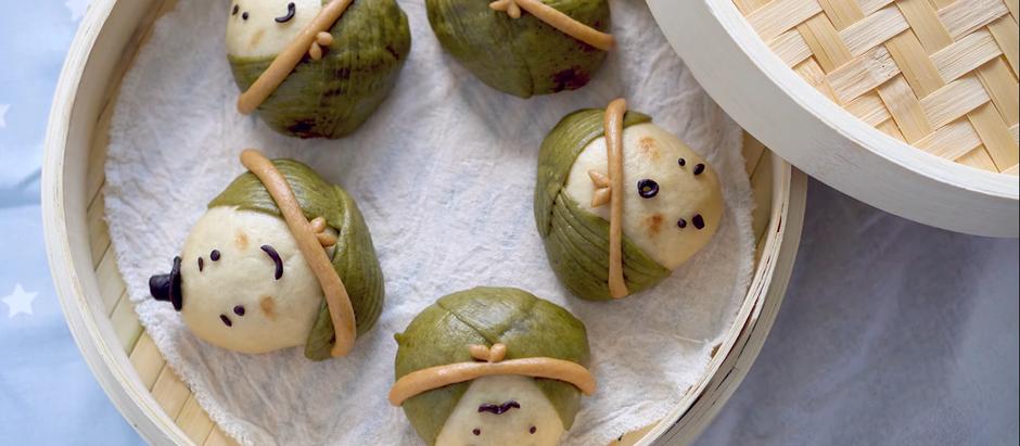 粽子沙茶肉包 Sticky Rice Dumpling (Zongzi) Steamed Meat Buns