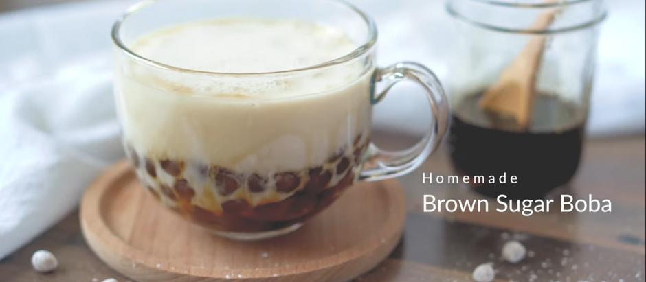 黑糖珍珠厚鮮奶 (自製波霸粉圓) Brown Sugar Boba Milk Tea