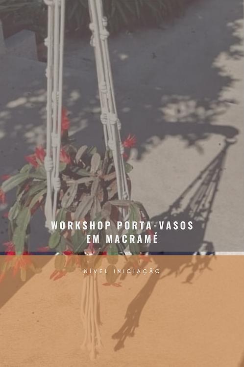 Workshop Porta-vasos Macramé