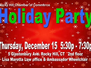 Chamber Holiday Party! Thursday Dec 15