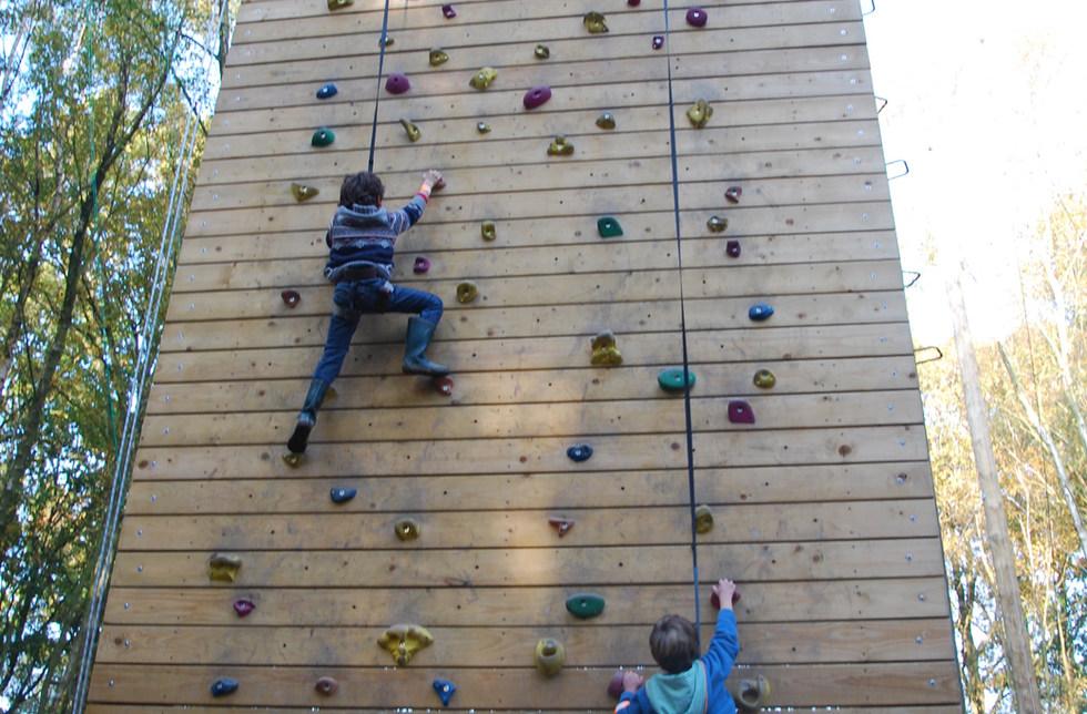Climbing wall at Bentley