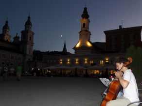 Even the Moon Looks Real in Salzburg, Austria
