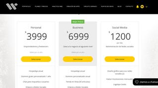 Planes y Precios para tu página web