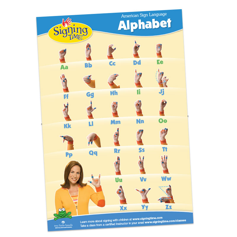 Signing Time Alphabet Chart