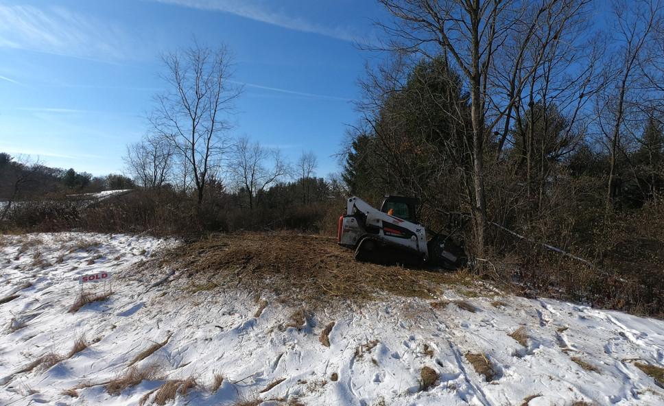 Clearing edge of farm field