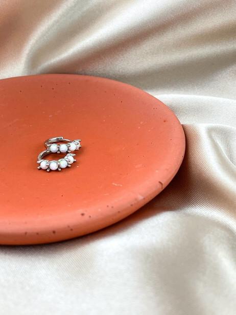 Dainty Opal Hoops