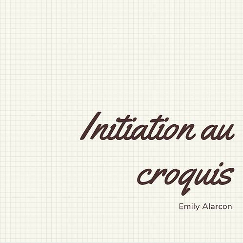 Initiation au croquis