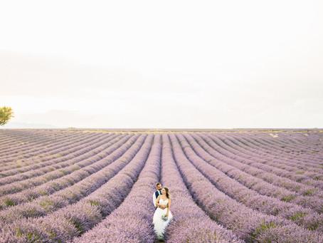 Daisy + Julien   Lavender fields vows renewal
