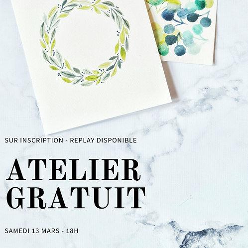 Atelier Aquarelle - Samedi 13 mars 18h