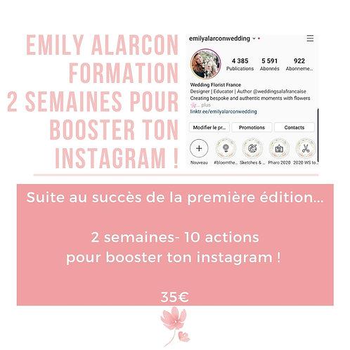 Boost Instagram 2 semaines