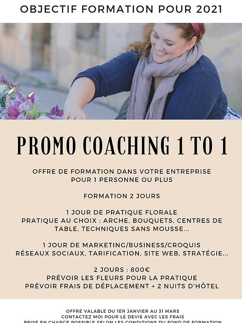 Réservation coaching 1 to 1 à domicile - Acompte