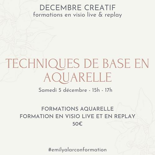 Formation Aquarelle techniques de base